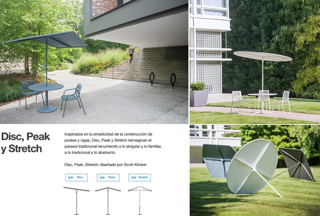 Disc, Peak, Stretch -Parasoles para el aire libre
