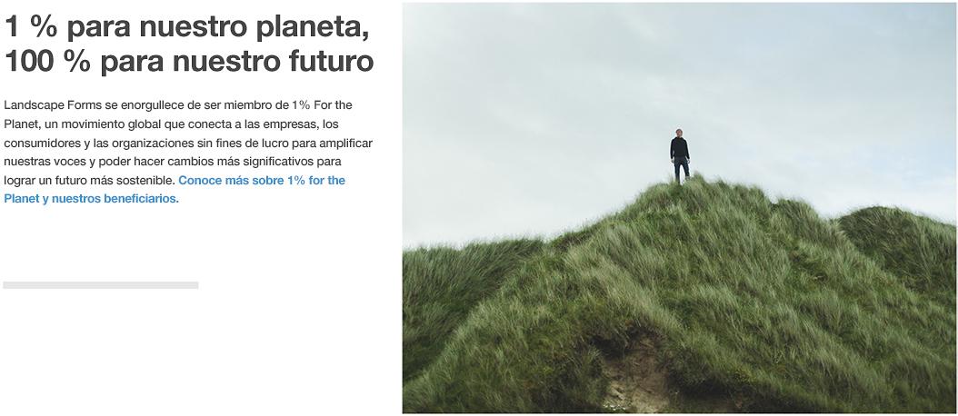 Landscape Forms se une a 1% for the Planet